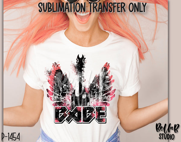 Retro Rock N Roll Babe Sublimation Transfer - Ready To Press - P1454