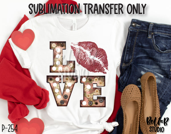 Love Marquee Sublimation Transfer, Ready To Press