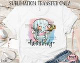 Homebody Sublimation Transfer, Ready To Press, Heat Press Transfer, Sublimation Print