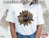 Madre Leopard Print Sunflower Sublimation Transfer, Ready To Press, Heat Press Transfer, Sublimation Print