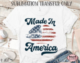 Made In America Sublimation Transfer, Ready To Press, Heat Press Transfer, Sublimation Print
