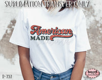 Retro America - American Made Sublimation Transfer - Ready To Press