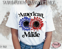Tie Dye Sunflower American Made Sublimation Transfer - Ready To Press