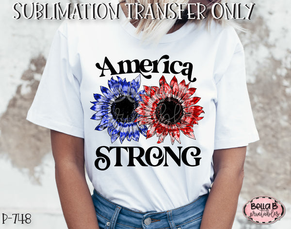Tie Dye Sunflower America Strong Sublimation Transfer - Ready To Press