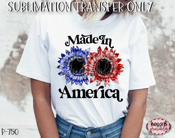 Tie Dye Sunflower Made In America Sublimation Transfer - Ready To Press