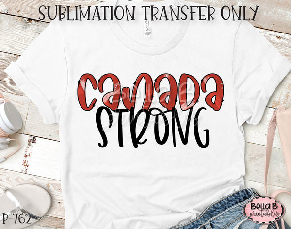Canada Strong Sublimation Transfer, Ready To Press
