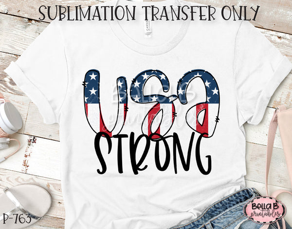 USA Strong Sublimation Transfer, Ready To Press