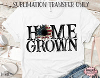 Home Grown, America Sunflower Sublimation Transfer - Ready To Press