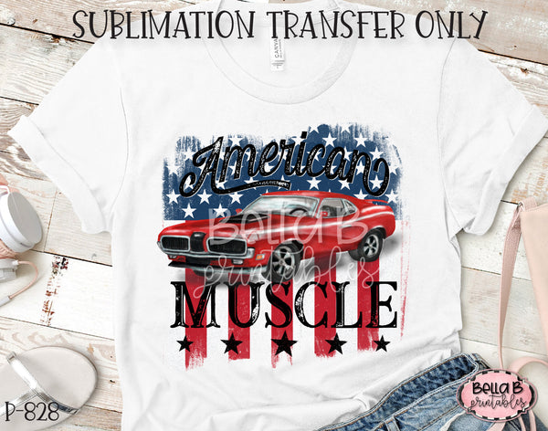 American Muscle Sublimation Transfer, Ready To Press