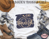 Thankful Pumpkin Sublimation Transfer - Ready To Press