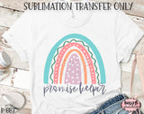 Rainbow - Promise Keeper Sublimation Transfer - Ready To Press