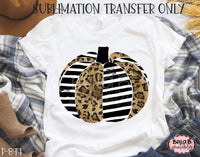 Leopard Striped Pumpkin Sublimation Transfer - Ready To Press