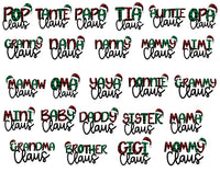 Choose Your Title - Family Claus Sublimation Transfer, Ready To Press