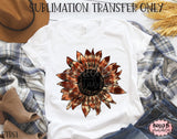 Fall Tie Dye Sunflower Sublimation Transfer - Ready To Press