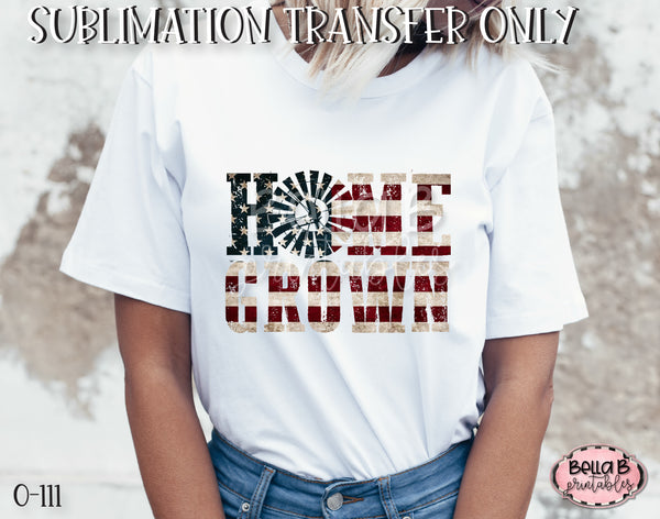 America Home Grown Sublimation Transfer - Ready To Press