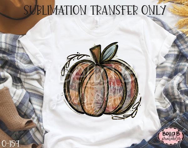 Tie Dye Pumpkin Sublimation Transfer, Ready To Press