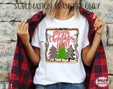 Merry Christmas Y'all Sublimation Transfer, Ready To Press