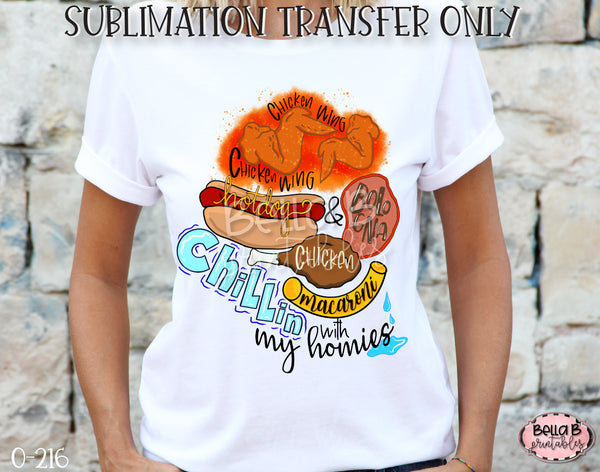 Chicken Wing Song Sublimation Transfer, Ready To Press
