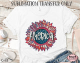America Sunflower Sublimation Transfer, Ready To Press, Heat Press Transfer, Sublimation Print