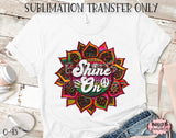 Leopard Serape Sunflower -Shine On Sublimation Transfer - Ready To Press