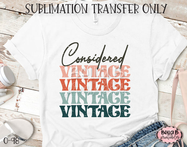 Considered Vintage Sublimation Transfer - Ready To Press