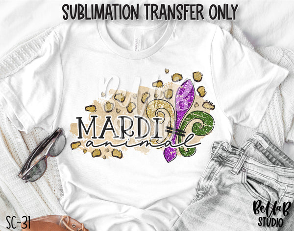 Leopard Mardi Animal Sublimation Transfer - Ready To Press