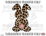Leopard Print Easter Bunny Sublimation Transfer, Ready To Press, Heat Press Transfer, Sublimation Print