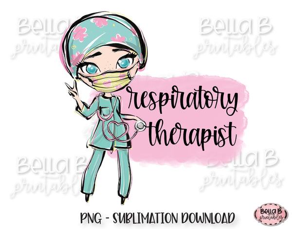Respiratory Therapist Sublimation Design