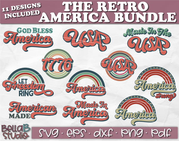 Retro America SVG Bundle, USA SVG Bundle