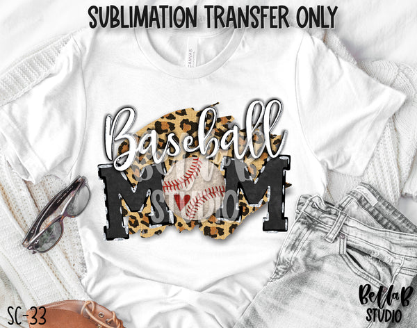 Baseball Mom Sublimation Transfer - Ready To Press - SC33