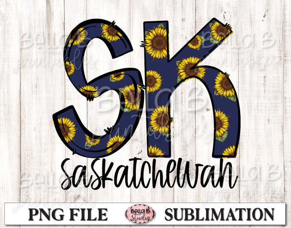Saskatchewan Sunflower Sublimation Design
