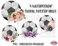 Floral Soccer Ball Sublimation Elements Bundle
