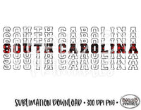 South Carolina State Sublimation Design, Mirrored State Design