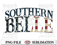 Southern Belle Sublimation Design