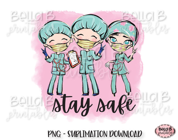 Medical Doctor Sublimation Design, Stay Safe