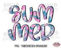 Tie Dye Summer Sublimation Design, Summer Design