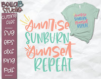 Sunrise Sunburn Sunset Repeat SVG File