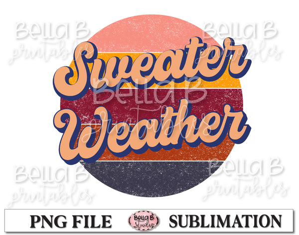 Retro Sweater Weather Sublimation Design