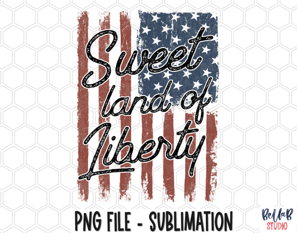 Sweet Land Of Liberty Sublimation Design