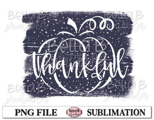 Thankful Pumpkin Sublimation Design