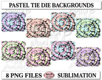 Pastel Tie Dye Sublimation Background Bundle, Backsplash