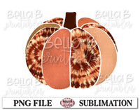 Tie Dye Pumpkin Sublimation Design