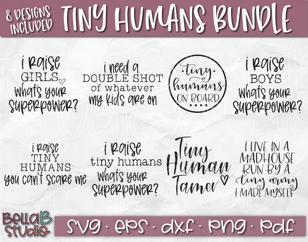 Tiny Humans SVG Bundle