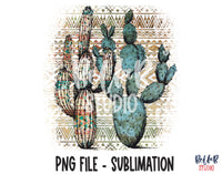 Tribal Cactus Sublimation Design