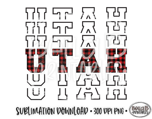 Utah State Sublimation Design, Mirrored State Design