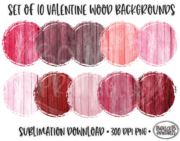 Valentines Wood Sublimation Background Bundle, Backsplash