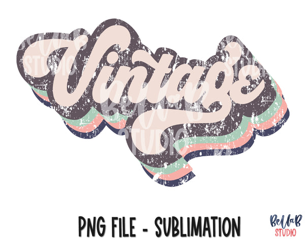 Retro Vintage Sublimation Design