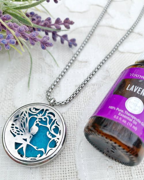 Teal Fairy Aromatherapy Necklace