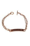 """Love"" bracelet with toggle clasp"