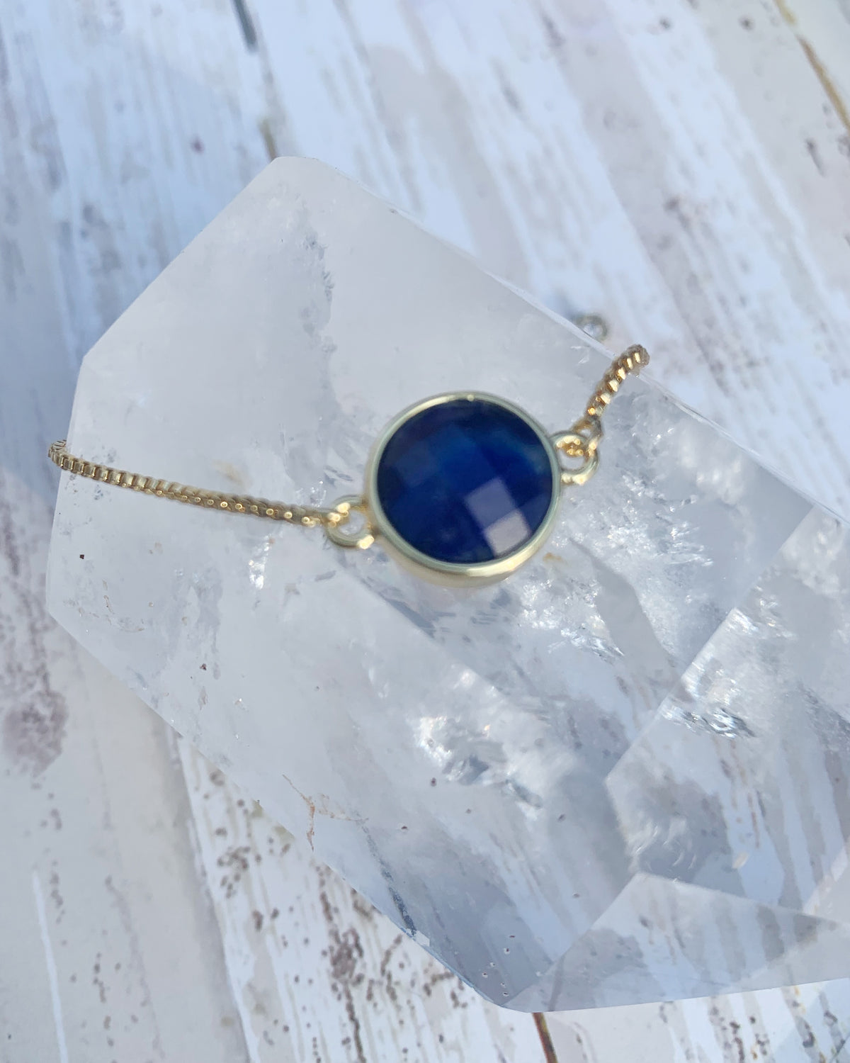 Lapis Lazuli Faceted Necklace for Elsa